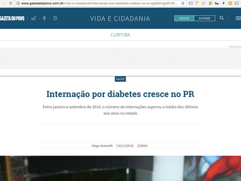 internacao por diabetes cresce gra