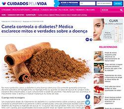 Cuidados pela vida canela controla diabetes