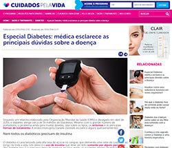 Cuidados pela vida diabetes